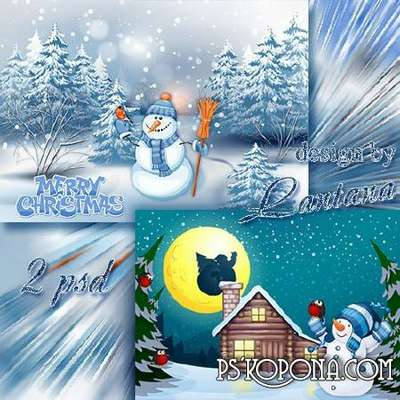Multilayer backgrounds - Snowman
