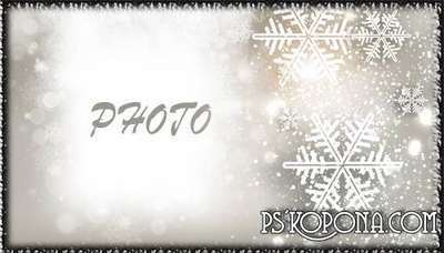 Free PSD Photo frame for photoshop - New Years snowflakes