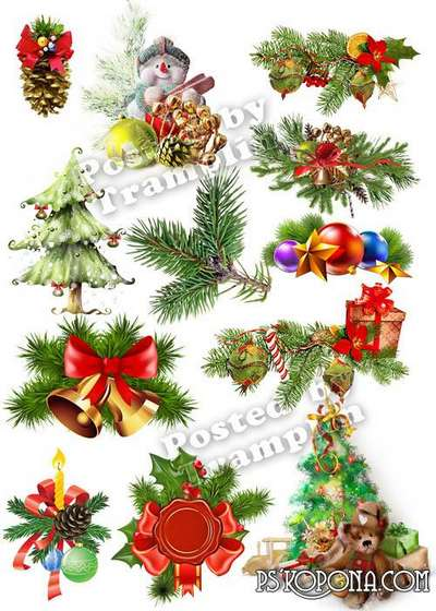 New Year png clipart on a transparent background – the Holiday begins