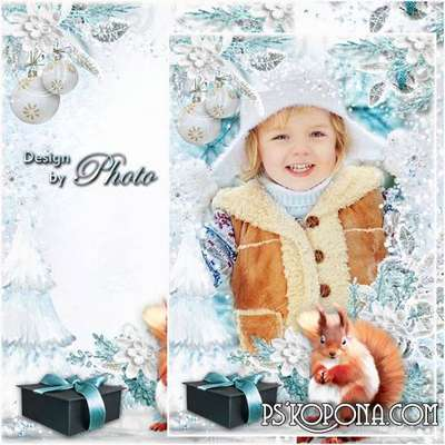 PSD Frame for photo - New year, as in a fairy tale, full of wonders