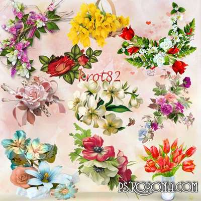 Flower arrangements png images, bouquets png selection of clip art on a transparent background