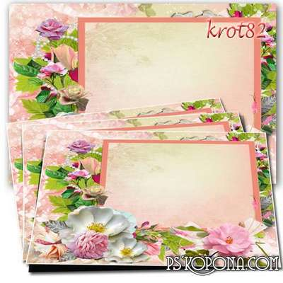 Frame for couples in love with beautiful flowers - Capture the moment