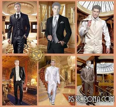 Elegant men's suits psd - free 6 psd files, free download