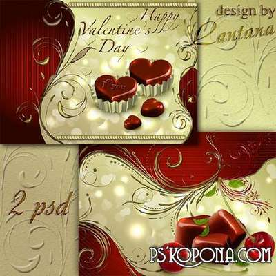 Multilayer backgrounds - Valentine's Day 13