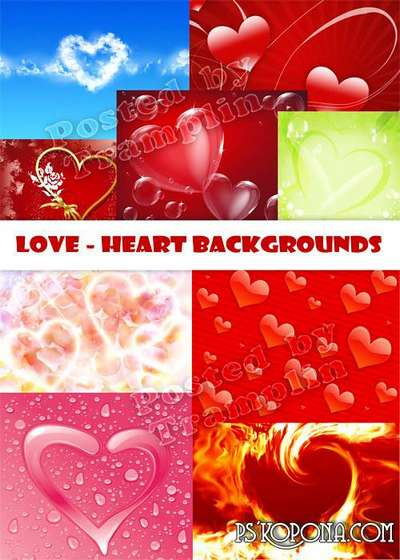 Backgrounds and textures with hearts ( free textures, free download )