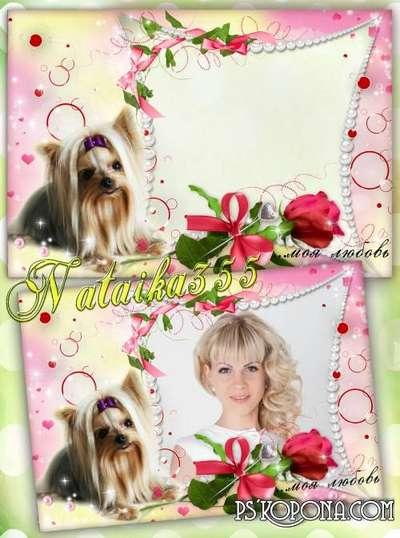 Frame for Photoshop - Little dog