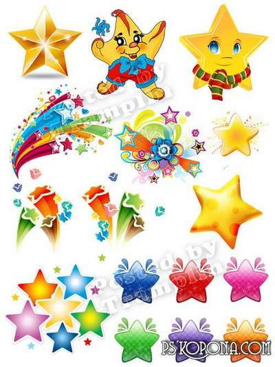 Stars and star flashes png images free clipart Png - Free download