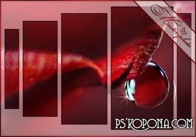 Psd polyptych - a Tear rose
