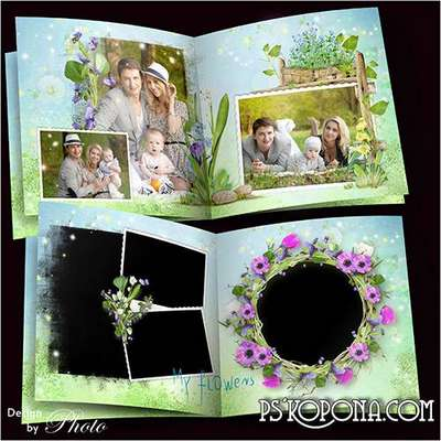 Family photo book template psd - It melts the snow, running streams, the window blew in spring