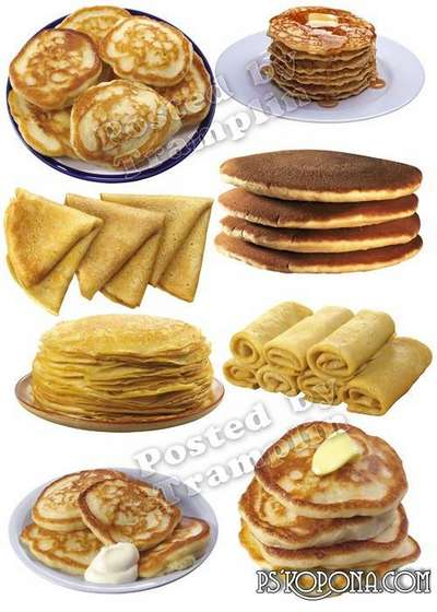 Shrovetide, pancakes png images – Clipart on a transparent background