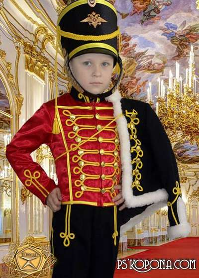 Children's template for photoshop - to serve the Fatherland