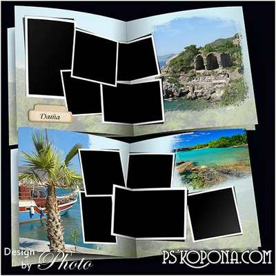 Photo book template psd - A journey in Turkey