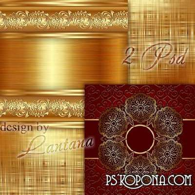 Multilayer backgrounds - Golden glow