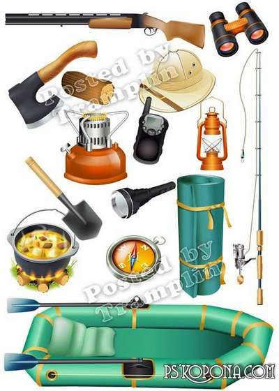 Tourism, fishing, hunting png images – Clipart png on a transparent background