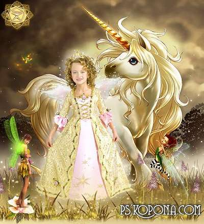 Children's template for Photoshop - Fairy Princess