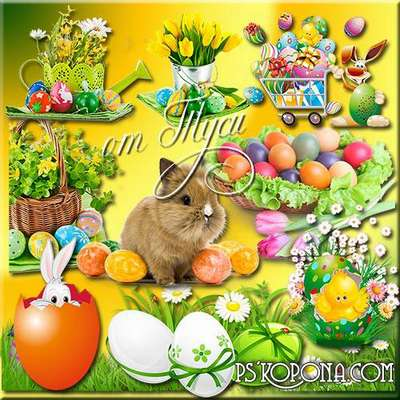 Clipart - Easter - joy illuminates, awakens the magic of kindness