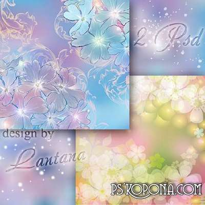 Multilayer backgrounds - Flower dance