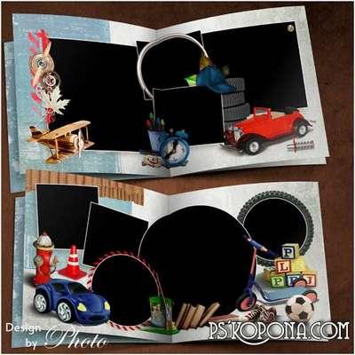 Children photo book template psd - My naughty boy