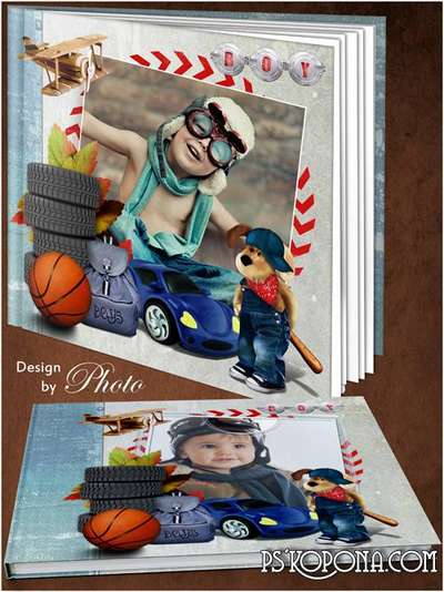 Children photo book template psd - My naughty boy