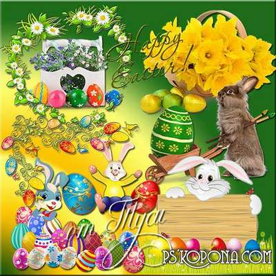 Clipart - Clipart Easter - The brightness of the Easter holiday
