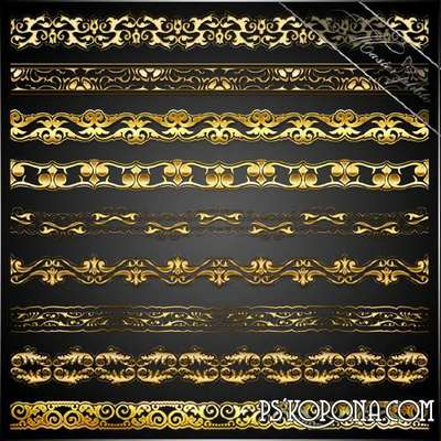 PSD source for design - Gold borders_2