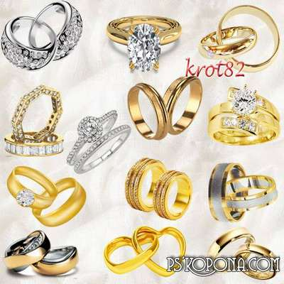 PNG Clipart for design - Wedding diamonds with rings