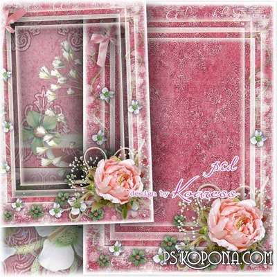 Vintage photo framework - The fragrance of memories
