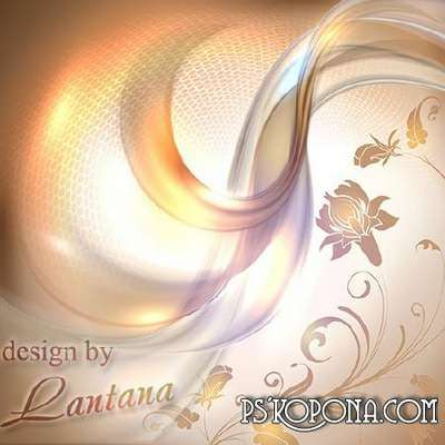 Multi-layered PSD source for design in Photoshop - In waves of fantasy