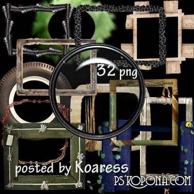 Set of original png frames for Photoshop