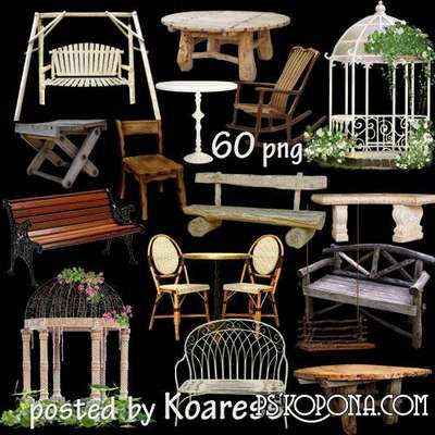 png images Swings, arbors, benches, tables - png clipart for design on a transparent background