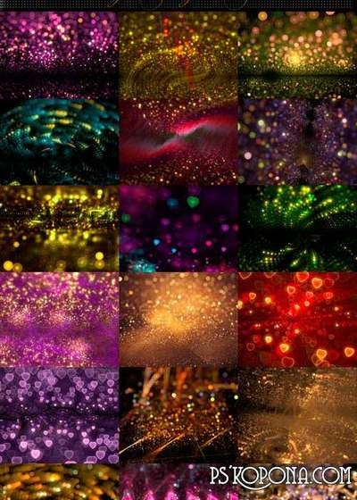 Shining PNG bright bokeh Photoshop backgrounds