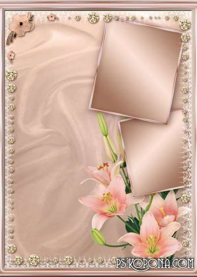 PSD Multi-layer Frames - Perfectly lights lilies