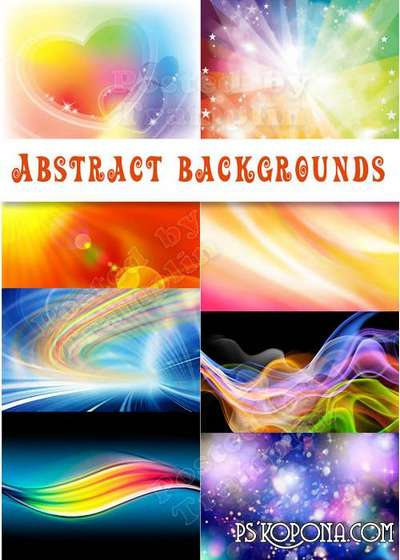 Beautiful abstract backgrounds - Gentle, bright, star