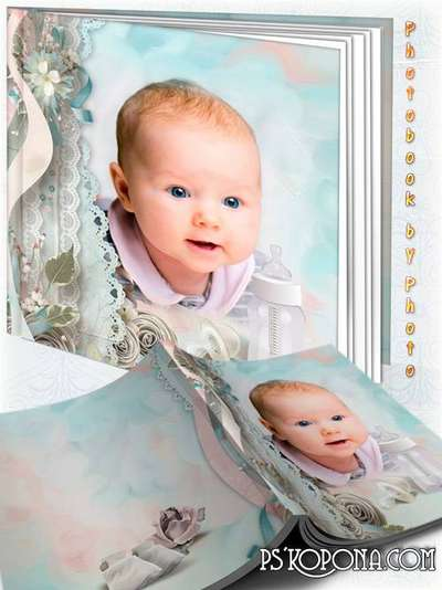 Childrens album for pictures baby - Vintage photo book template