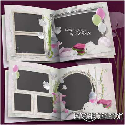 Photo album template psd for baby pictures - in memory of beloved baby
