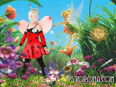 Children's template for photoshop - Magic meadow