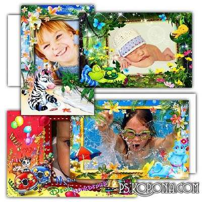 Collection of children's photo frames - Sleeping baby