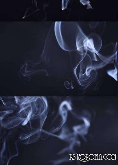 White fumes, smokes textures