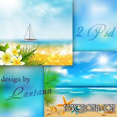 Multilayer backgrounds - Beautiful sea