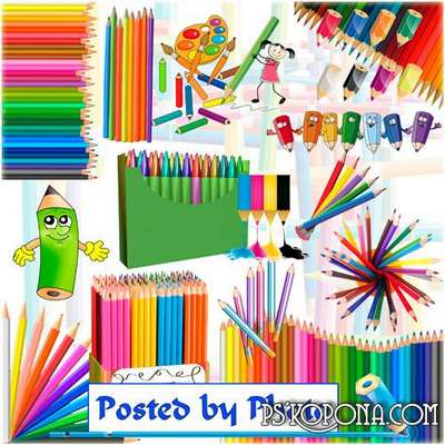 Free png images color pencils, clipart png on a transparent background - Free download