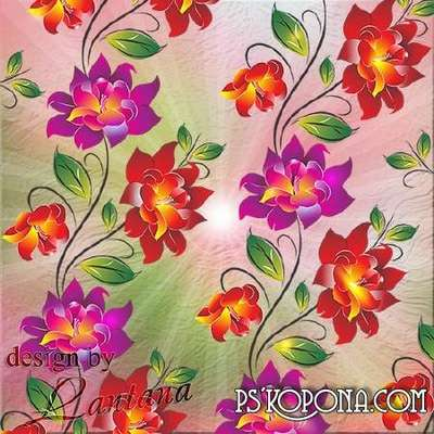 Free PSD background download - Bright summer flowers