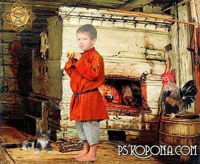 Children's template for photoshop - Egorka