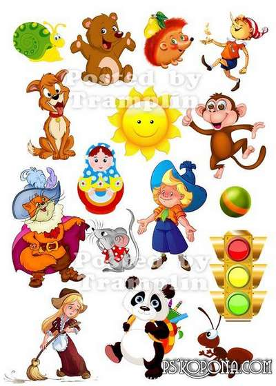 Fairy tale characters png and illustrations png - Clipart png on the transparent background