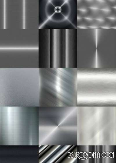 Gray Polished Metal Textures