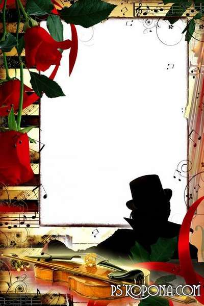 Photo frame - The Roses and violin