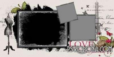 Romantic photobook template psd - Travel to Paris