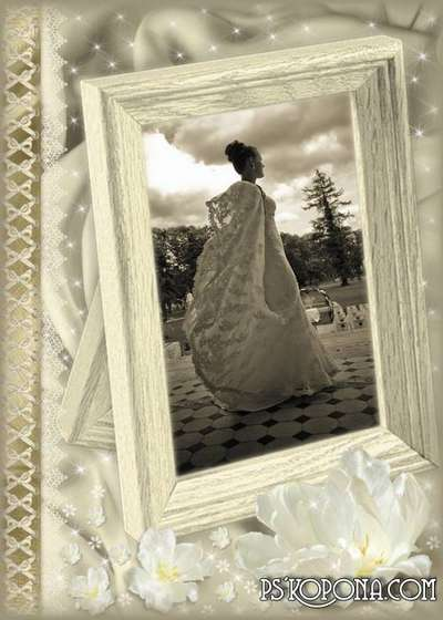 Frame for Photoshop - wedding album template - Old Gold