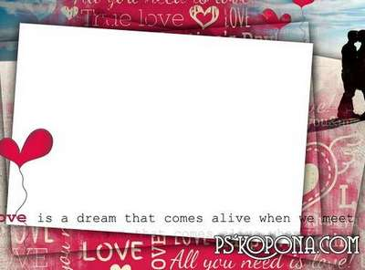 Photo frame - Love - it's a dream