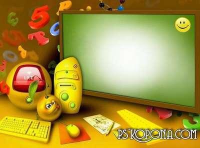 Child`s photo frame – School life