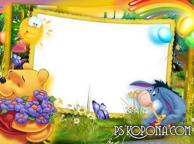 Child`s photo frame – Winnie the Pooh and summer